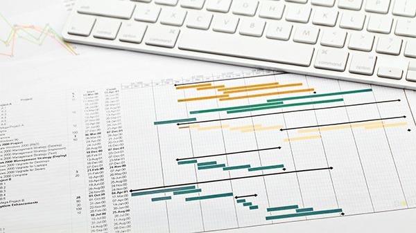 Gantt chart visualizing project scope
